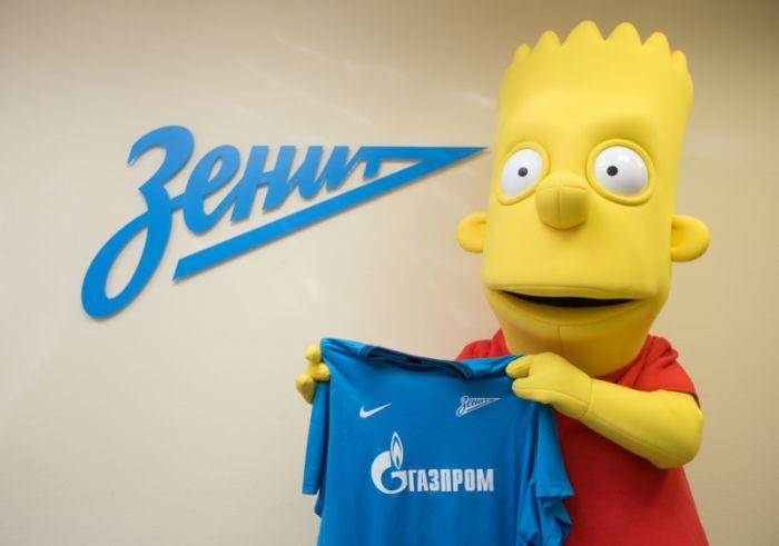 Bart Simpson será um dos mascotes do Zenit